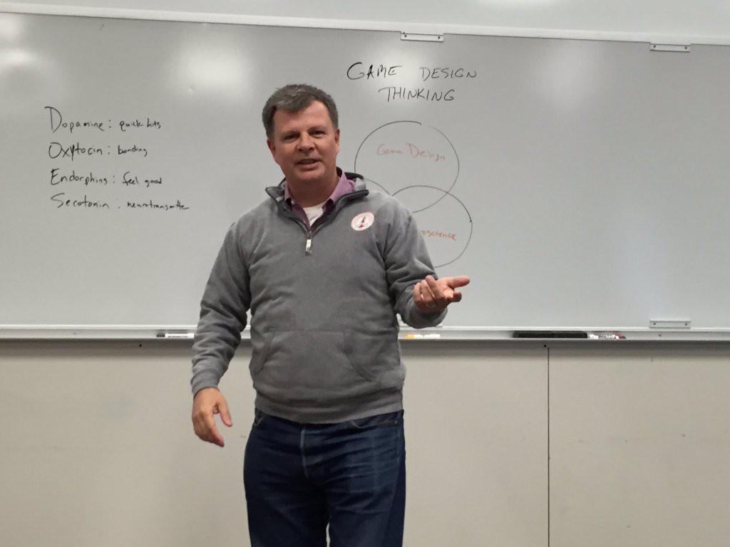 Chris Bennett speaking at Bradley University